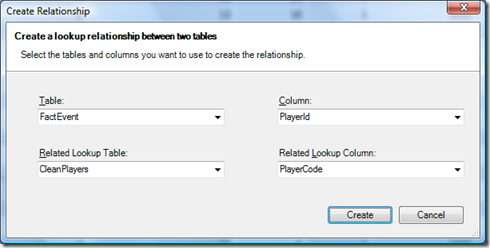 PowerPivot Relationship Dialog