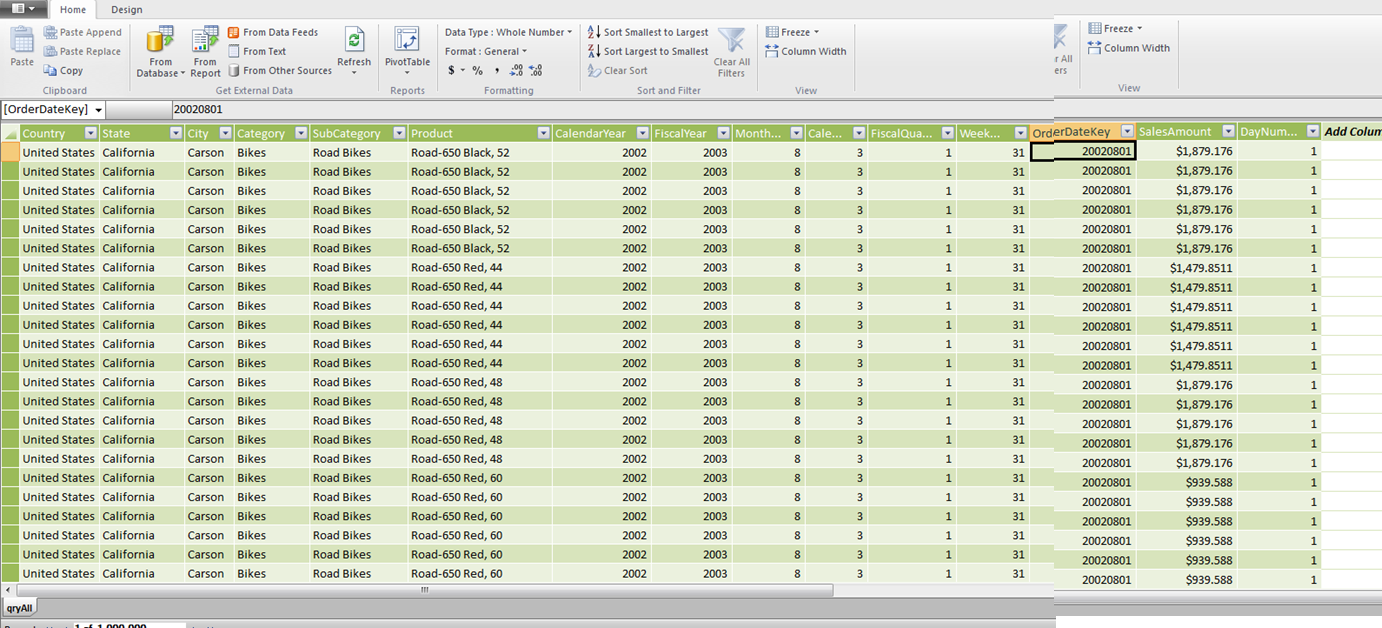 Using Excel Cube Functions With Powerpivot Powerpivotpro 06 15 2005 I Went Ahead And Got Quotes For Replacement Equipment Do You Notice How There Are Multiple Instances Of Country State Across Records This Is In Effect A Result Set From An Access Query Or Sql View