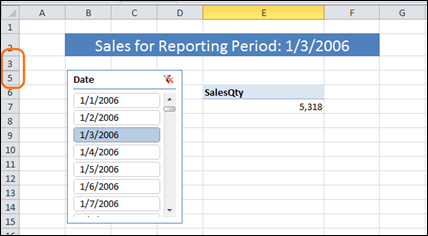 Hide Report Filter Row But Formula Still Reflects Slicer Selection