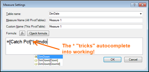 Tricking autocomplete into working with *