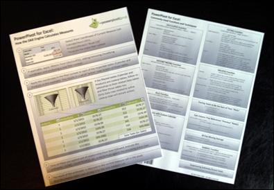 "PowerPivot Book Companion:  The PowerPivotPro Quick Reference Card:  Coming Soon to an Online Store ""Near"" You"