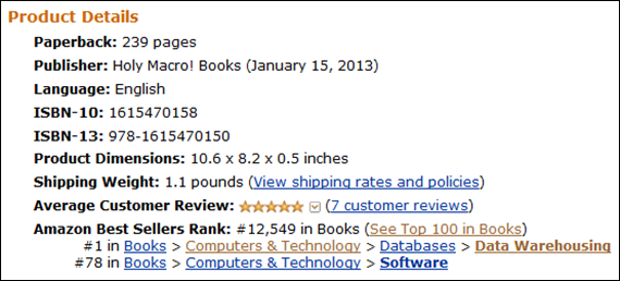 My Powerivot Book:  Back into the top 100 for all Software Books, This Time With NO Dirty Tricks!