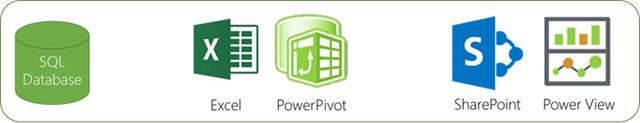 Team BI SQL Database Excel PowerPivot SharePoint Power View