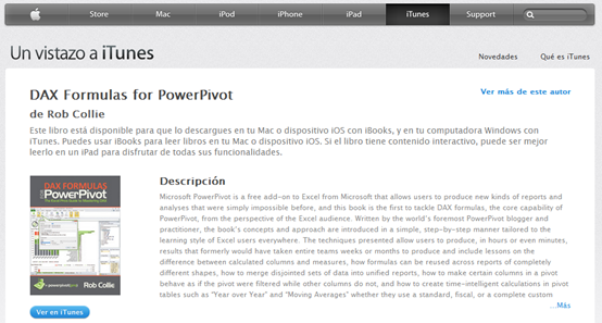 Power Pivot Book en Espanol!  On iTunes.