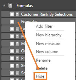 PowerBI.com Hide Column From Report View