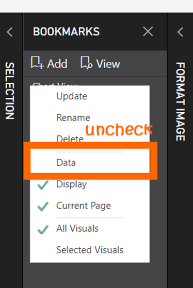 Uncheck Data