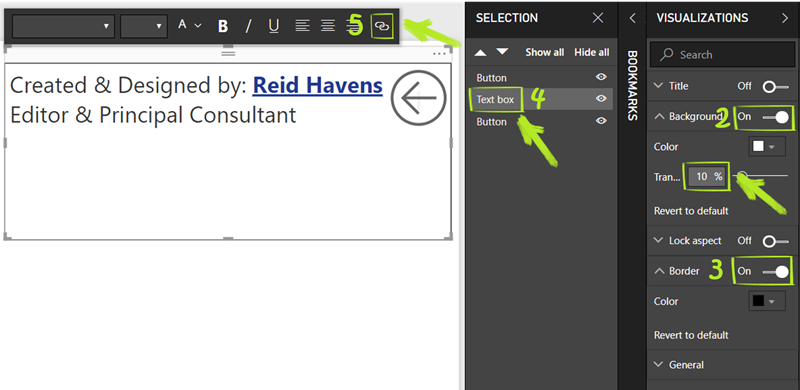 Setup Instructions For Text Box thumb 1 Power BI Feature Spotlight: Using Bookmark Buttons to Create Pop Up Windows