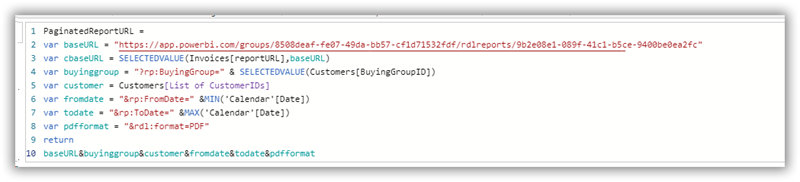 An Example of a Web URL Action Measure in Power BI